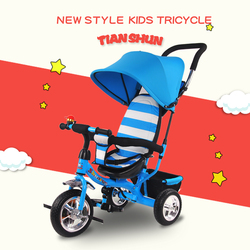 Three wheeler tricycle with canopy children tricycle bike kids push tricycle baby trike