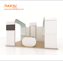 Aluminum display rack non tool DIY exhibition photo booth 3D design stand with a variety of surface to option.