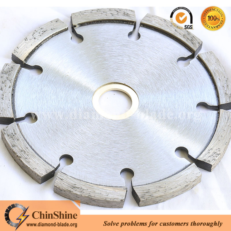 Laser welded tuck point diamond saw balde for concrete grooving