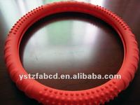 Superior Massage Sport Grip Slip-on silicone Steering Wheel Cover, red