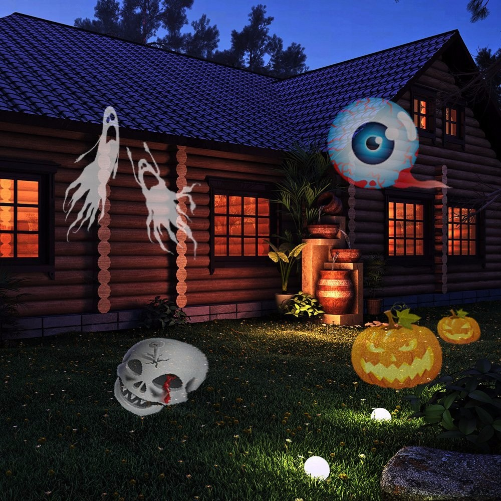 waterproof outdoor mini logo christmas laser projector lights halloween xmas tree