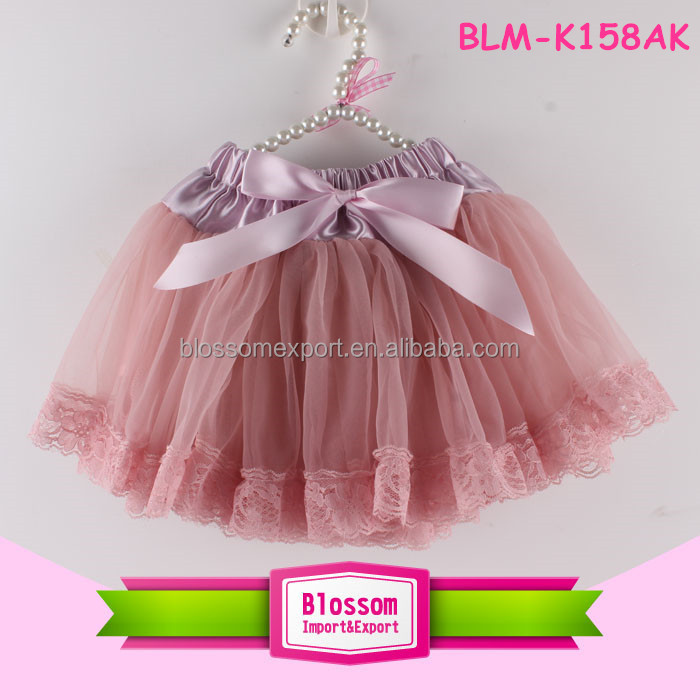 Baby Girls Chiffon Fluffy Pettiskirts Tutu Princess Party Skirts Lace ruffle daily Pettiskirt