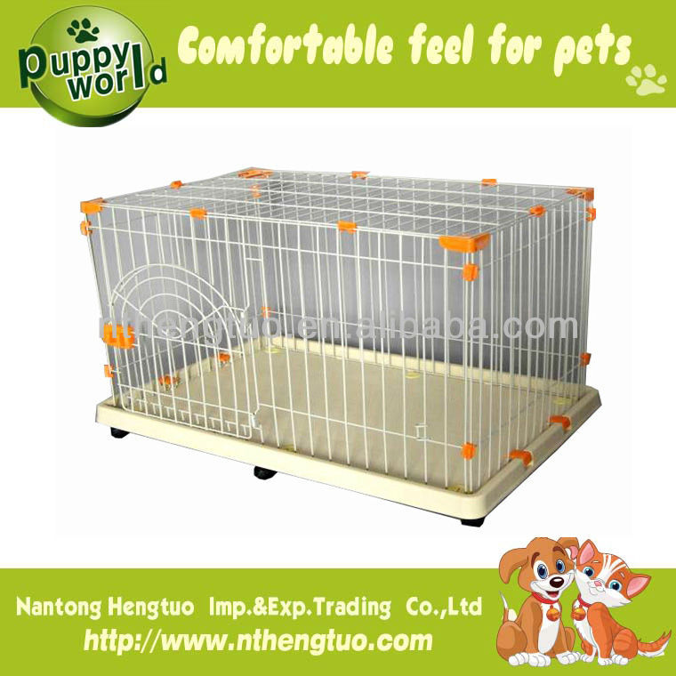 firm dog cage with plastic pallet