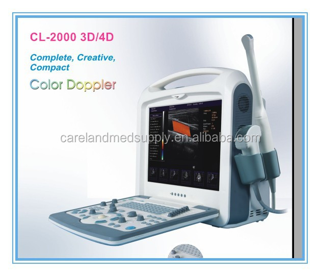 CE approved Portable Digital Ultrasound Machine /scanner Portable Color Doppler with 3D / 4D software for Cardiac ,vasgynecology