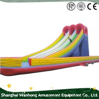 Huge Double Lane Commercial inflatable water slide boat