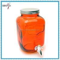 Beverage Dispenser 1 Gallon Mason Jars With Tin Lid For Storage