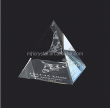 personalized Glass crystal pyramid paperweight MH-4128
