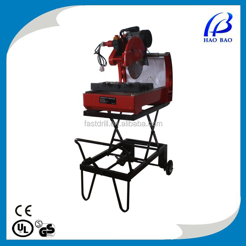 HMS350 electric marble tile cutting machine with water pump