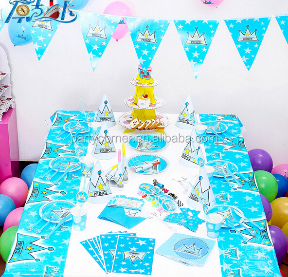 Cheap Happy Birthday Prince Set For Party Decoration