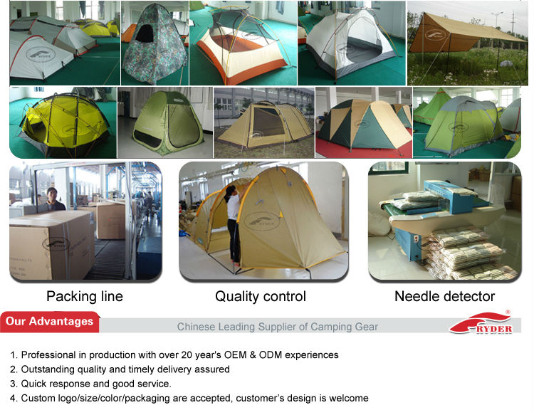 3-4 Person Tent/Two Door Double Layer Cheap Camping Travel Tent
