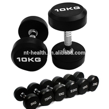 Wholesale rubber gym fitness tpu dumbbell set