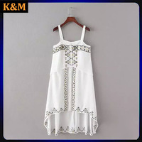 frocking designs dress emboridered cami dress for women graphic pattered dress