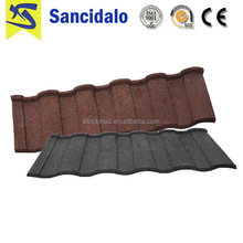 High Quality Custom Wholesale high quality natural stone chip coated metal roof tiles