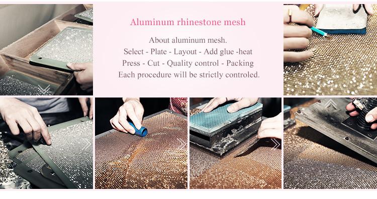 En gros personnalisé hot fix strass dentelle cristal de pierre de travail saree