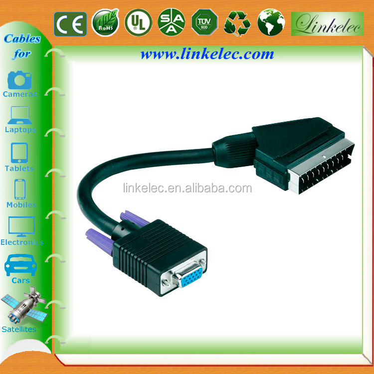 Alibaba China gold supplier custom scart to vga converter