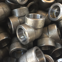 Stainless Steel 304 Forged Pipe Fitting 90 Degree Elbow Socket Weld ASME B16.11 Class 3000 Female
