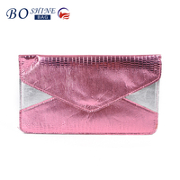 New Selling Cheap PU Envelope Clutch Bag Wallet Coin Purse For Ladies
