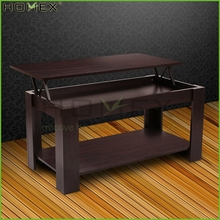 Lift up Top Coffee Table with Under Storage Shelf Homex BSCI/Factory