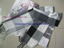 fashion and classical big check cotton scarf