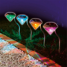 RGB led solar light Diamond Yard lighting