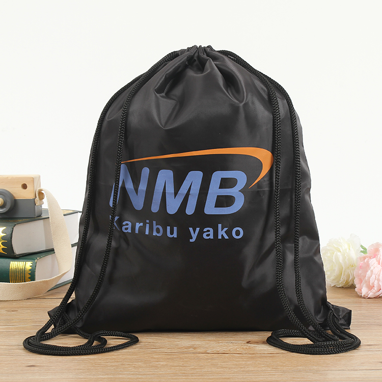 drawstring Bag 210D Polyester small bag two color <strong>logo</strong>