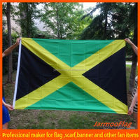 Factory direct sale custom cheap soccer sports coutry flag Jamaica flag