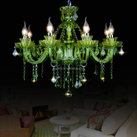 New Color! Cheap Green Luxury K9 Crystal Chandelier for Lobby Decoration