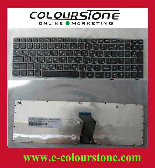 Laptop Style Keyboard For PC For Lenovo Z560 Grey color RU layout keyboard
