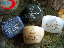 Wholesale Natural mixed Rune Tumbled Stone Symbols Healing Engraved Stone