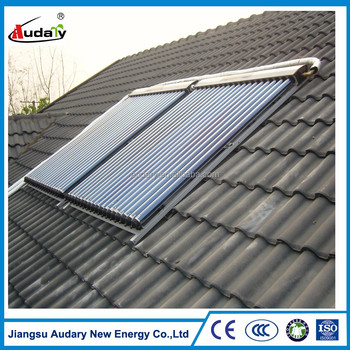 heat-pipe solar thermal collector on flat/ pitched Rooftop