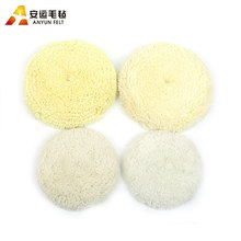 Soft durable double side car polishing lambs wool buffing pads