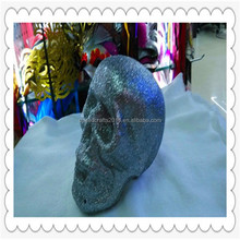 2015 hot selling scary glitter halloween foam skull for decoration