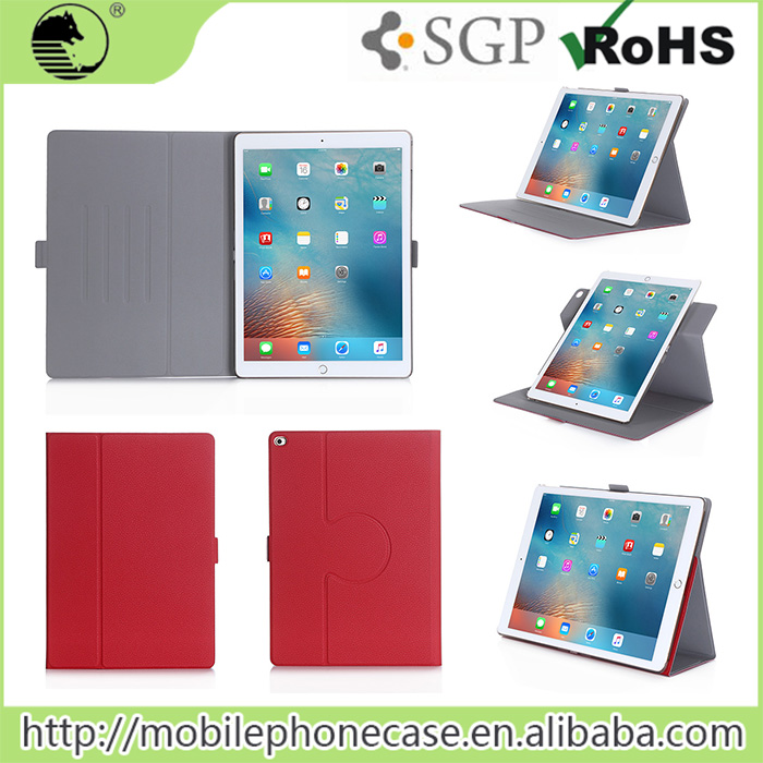 New Products Auto Sleep Leather Cover For iPad Pro With Dual-way Standings