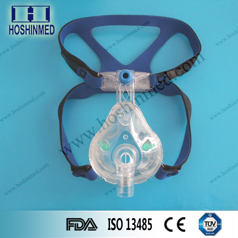 Medical Grade PVC Material Safety Full Face CPAP Mask With Headgear