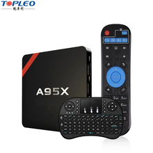 Low price good performance Android 6.0 A95X stream smart tv box 2.4G wifi dongle for set top box