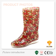 clear pvc transparent rain boots