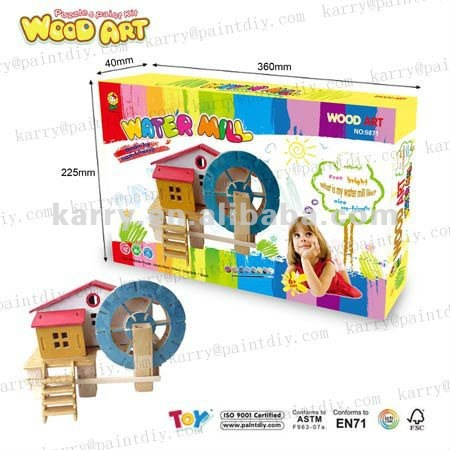 2013 hot selling wood art and puzzle DIY toys for kids