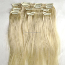 120g / 160g / 220g / 260g 100% Remy Virgin human hair double drawn clip in hair extension