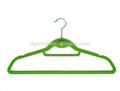 Non-slip,wholesale suit hangers plastic slim hangers flocked clothing hangers plastic