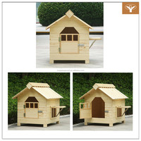 Wood Pet House Outdoor Painted Water Paint Wooden Dog House