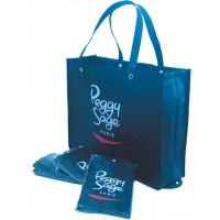 Promotional Supermarket 6 Bottle Wine Non Woven Bag With Strong Handle