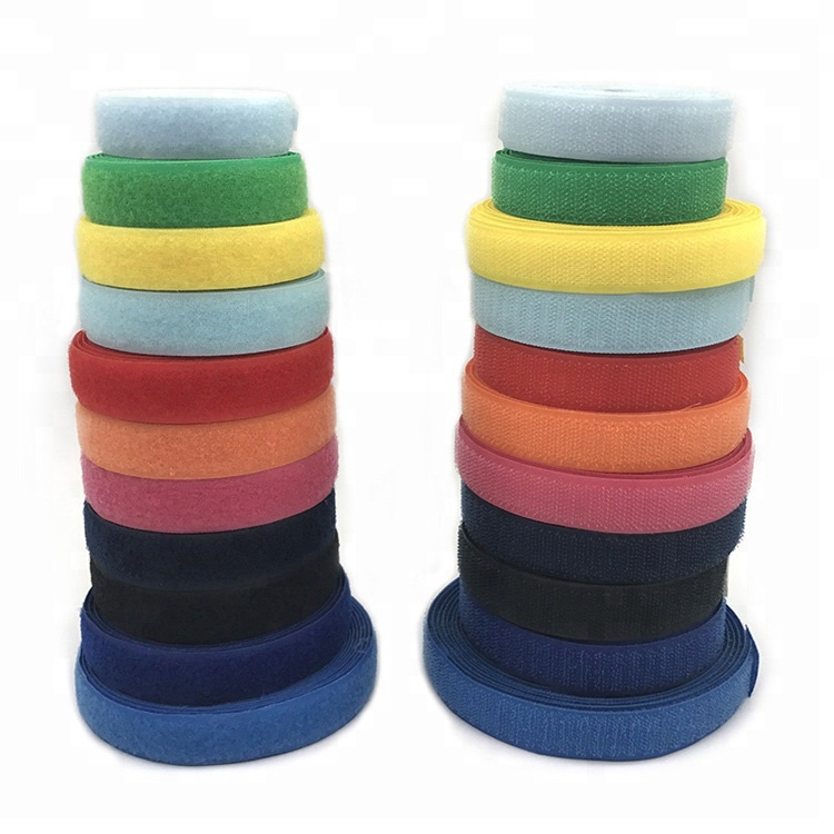 High Quality Double Side 2cm <strong>Nylon</strong> And Polyester Hook And Loop For Cap Bag Cloth Shoes