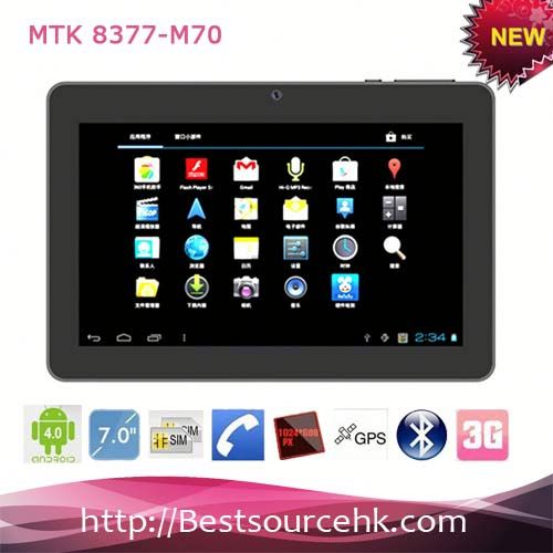 2013 cheapest 7 inch multi touch android 4.0 3g tablet MTK8377-M70