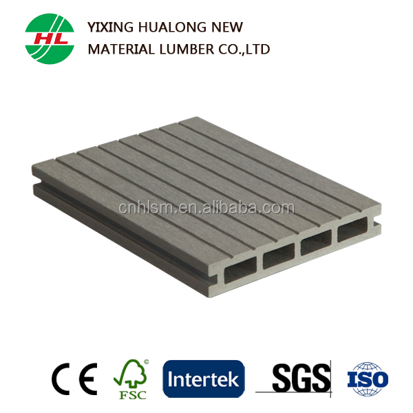 Waterproof Outdoor Wood Plastic Composite WPC Hollow Decking Board for Garden