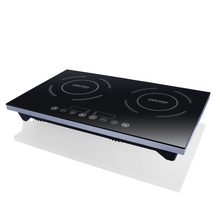 Temperature control 4 LED display double induction cooker induction stove
