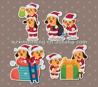 2013 Wholesale fashion promotion pvc sticker christmas sticker gold silver bronze stickers