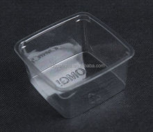 7oz PET disposable plastic dessert container with lids