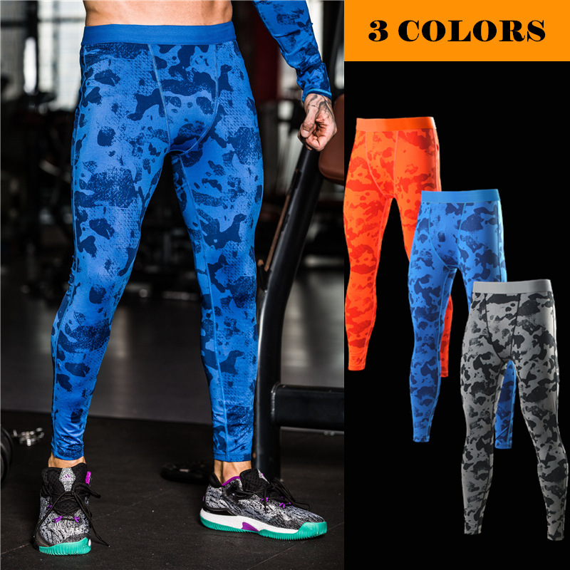 Gym Wear For Men Fitness Running Training Yoga Pants Elastic Compression Quick - drying Sports Leggings Pants