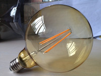 Home lighting 6W Glass Amber cover warm white CE&RoHs G125 LED Filament bulb