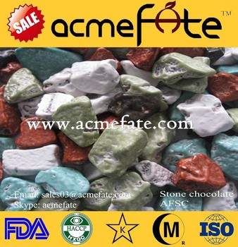 Wholesale chocolate supplier stone chocolate candy